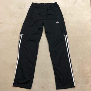 Adidas Men's Climalite 3Stripe Black Pants, Size S